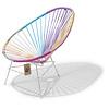 Acapulco kinder/baby stoel Eenhoorn, wit frame