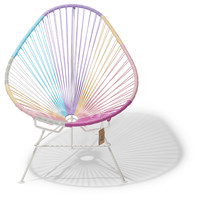 Chaise Acapulco Licorne, cadre blanc