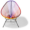 Acapulco chair Sunset, black frame