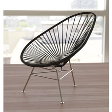 Exclusive edition Acapulco chair black, solid stainless steel frame