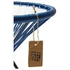Tavolino Japón blu cobalto con piano in vetro