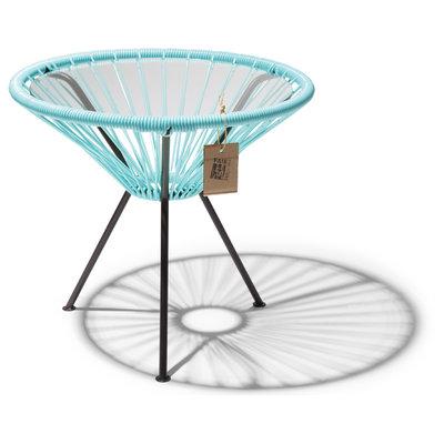 Tisch Japón pastellblau mit Glastischplatte
