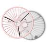 Table Japón rose pastel avec plateau en verre