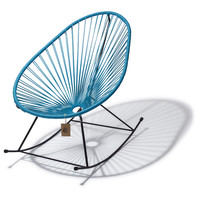 Acapulco rocking chair petrol blue