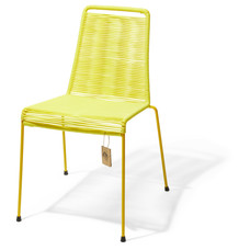 Mola stackable chair canary yellow