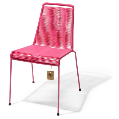 Chaise empilable Mola rose mexicain