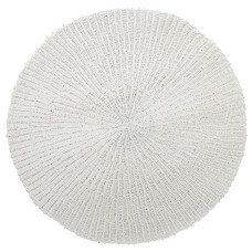 Tapijt, Ø 150cm, handgeweven, wit
