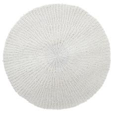 Tapijt, rond, handgeweven, wit