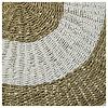 Carpet, round, handwoven. brown/white