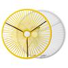 Table Japón XL jaune avec plateau en verre