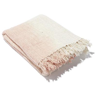 Ubud blanket pink gradation