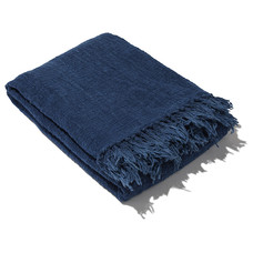 Ubud deken indigo blauw