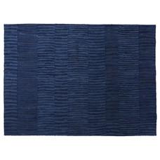 Handwoven cotton rug, natural dye 140x200cm