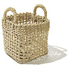 Baskets, set of 3, square, handwoven