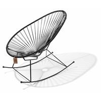 Handgemaakte Acapulco schommelstoel zwart
