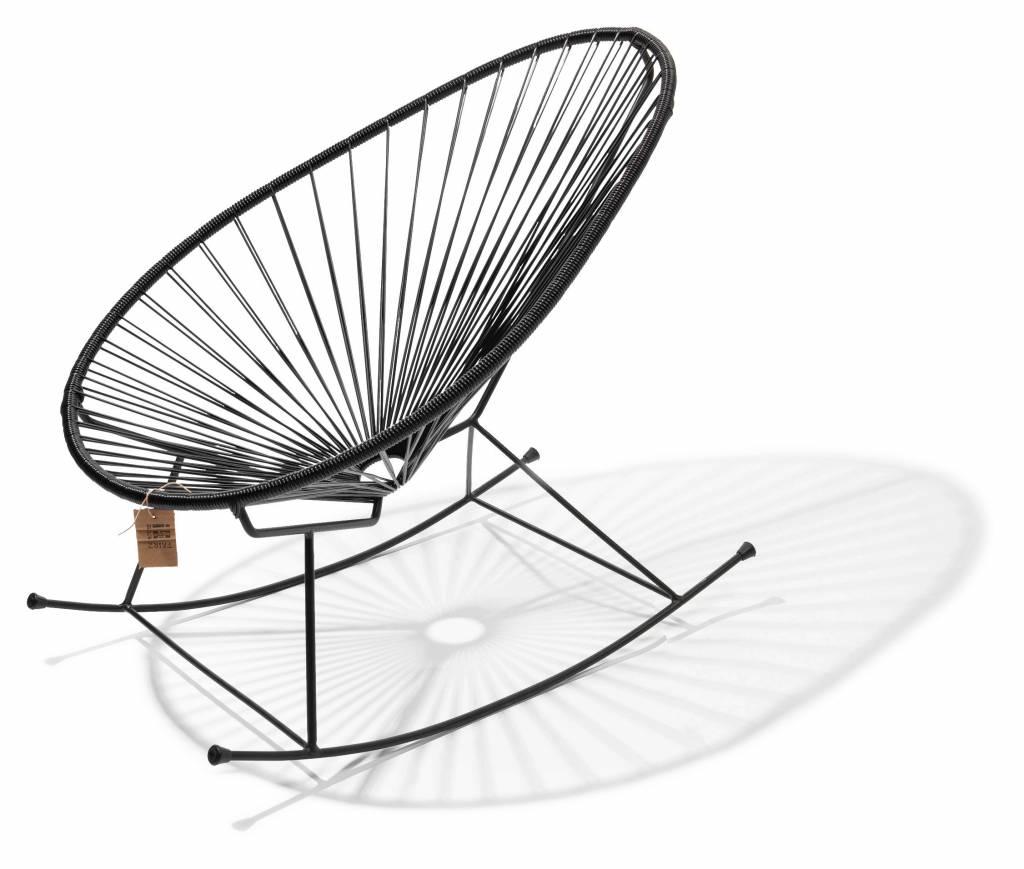 Pleasant Handmade Acapulco Rocking Chair 100 Black Inzonedesignstudio Interior Chair Design Inzonedesignstudiocom