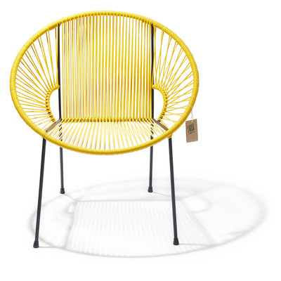 Luna dining chair yellow