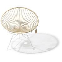 Condesa Hemp chair, white frame