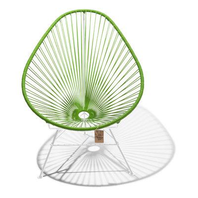 Acapulco Stuhl olivgrün, weißes Gestell