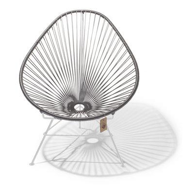 Handmade Acapulco chair silver-grey, whiteframe