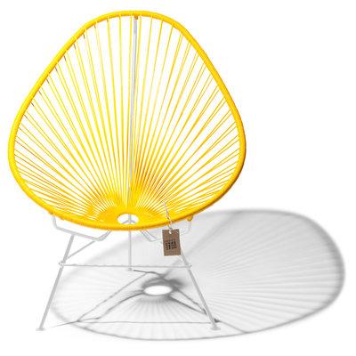 Acapulco chair yellow, white frame