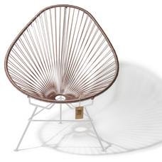 Acapulco Stuhl taupe metallic, weißes Gestell