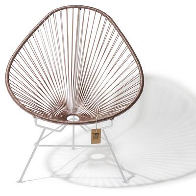 Acapulco chair taupe metallic, white frame