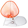 Acapulco chair orange, white frame