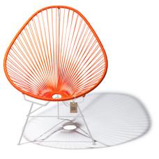 Acapulco Stuhl orange, weißes Gestell