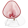 Acapulco chair red with white frame