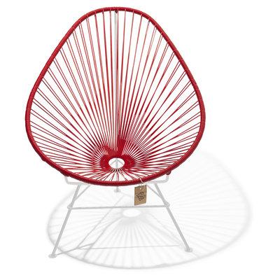 Acapulco Stuhl rot, weißes Gestell