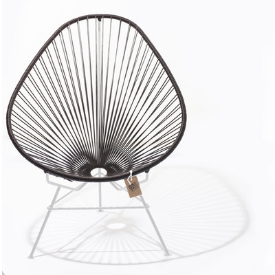 Acapulco chair chocolate brown with white frame