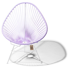 Acapulco chair lilac, white frame