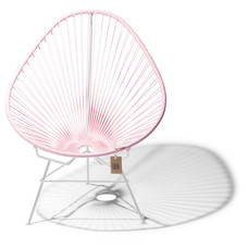 Acapulco chair pink pastel, white frame