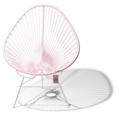 Acapulco chair pink pastel, white frame