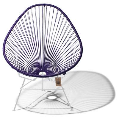Acapulco chair purple, white frame