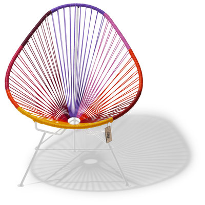 Acapulco chair Sunset, white frame