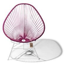 Acapulco Stuhl violett weinfarben, weißes Gestell
