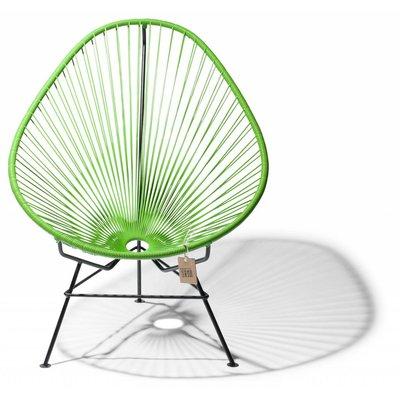 Handmade apple green Acapulco chair with black frame