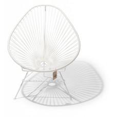 Fauteuil Acapulco cadre blanc