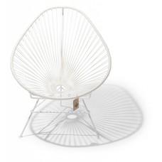 Acapulco Stuhl weiß, weißes Gestell