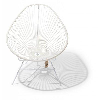 Handmade Acapulco chair white, white frame