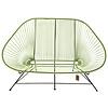 Acapulco sofa canapé  vert olive, adapté pour 2 personnes