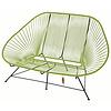 Acapulco Zweisitzer Sofa olivgrün, geeignet für 2 bis 3 Personen