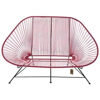 Acapulco Zweisitzer Sofa rot, geeignet für 2 bis 3 Personen