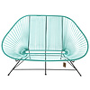 Acapulco 2 Seater Sofa turquoise, suitable for 2 to 3 people