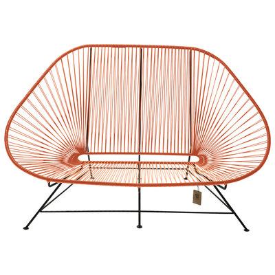 Acapulco sofa canapé orange, adapté pour 2 personnes