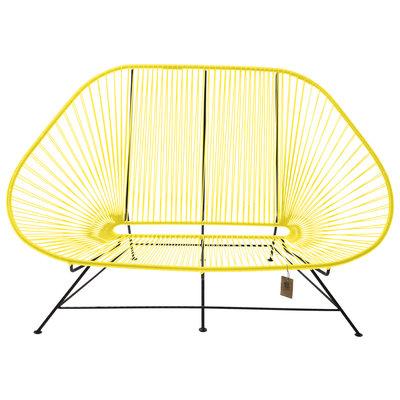 Acapulco sofa canapé jaune canari, adapté pour 2 personnes