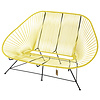 Acapulco 2 Seater Sofa canary yellow, suitable for 2 to 3 people