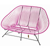 Acapulco 2 Seater Sofa fuchsia, suitable for 2 to 3 people